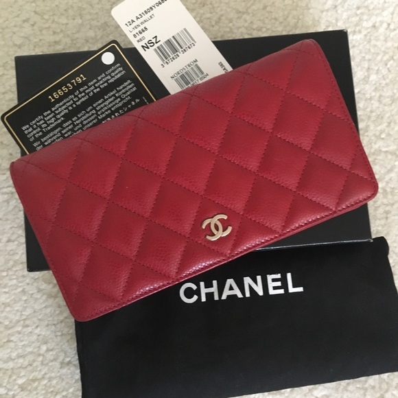 47554bab887b CHANEL Bags | Sold 12a Red Classic Yen Wallet | Poshmark